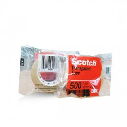 3M Scotch Utility Transparent Tape 500B 18mm (Box)
