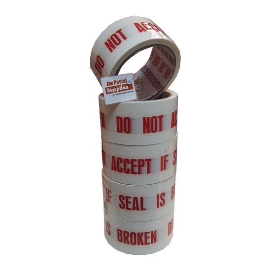 (Hunter) Do Not Accept If Seal Is Broken Tape 48mmx40yds (6 rolls/ Tube)