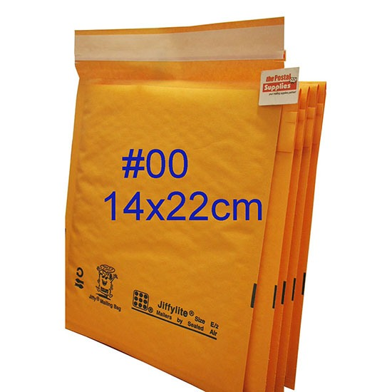 Jiffylite Kraft Bubble Mailer #00 (Wholesale)