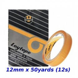 Loytape Cellulose Tape 12mm x 50yards (12s)