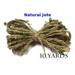 Jute Twine String with Leaves