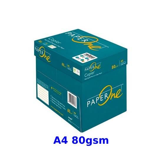 A4 80gsm Paperone Green Copy Paper (5 reams per box)