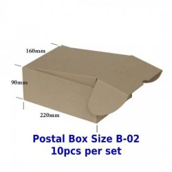 Postal Box Size B-02 - 10pcs per set (Pre-Order; No Exchange/ Return)