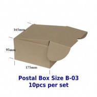 Postal Box Size B-03 - 10pcs per set (Pre-Order; No Exchange/ Return)