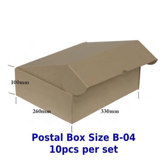 Postal Box Size B-04 - 10pcs per set (Pre-Order; No Exchange/ Return)