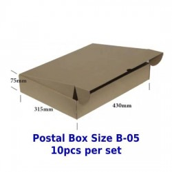 Postal Box Size B-05 - 10pcs per set (PRE-ORDER; NO EXCHANGE/ RETURN)