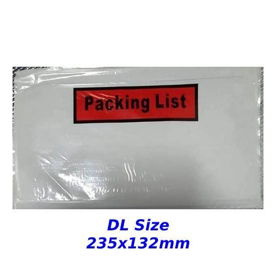 Packing List Envelopes (DL)