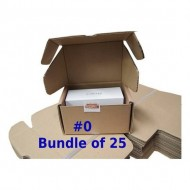 Postal Box Size 0 (XXS) - 25pcs per bundle