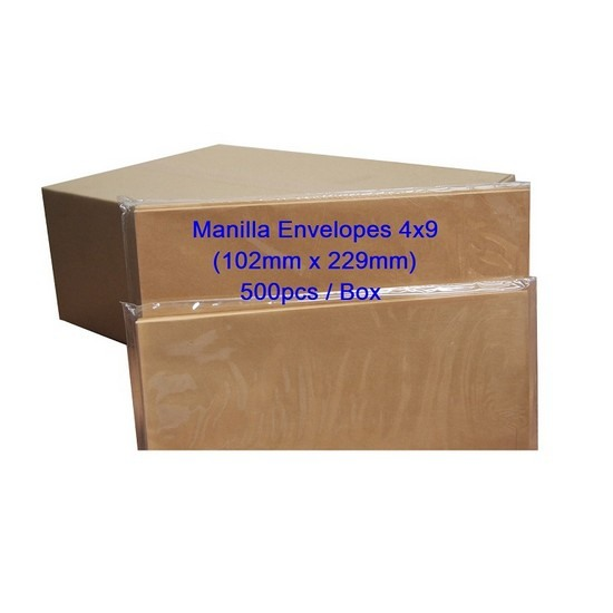 Envelope 4x9 Manilla (Box)