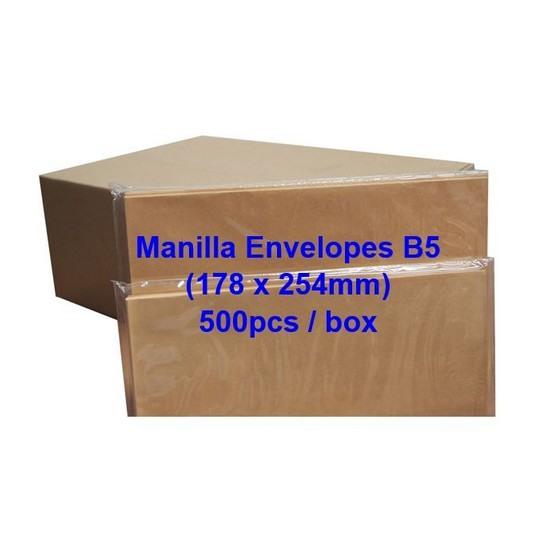 Envelope B5 7x10 Manilla (Box)