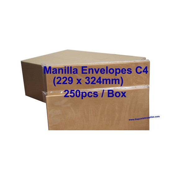 Envelope C4 9X12-3/4 Manilla (box)