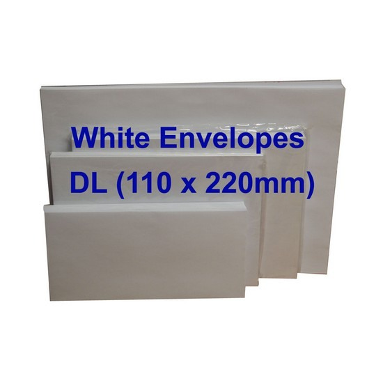 White Envelope DL 110 x 220mm (Pack of 20)