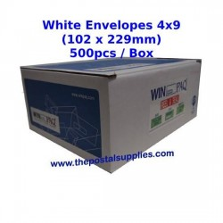 Envelope 4X9 White (Box)
