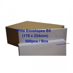 Envelope B5 7x10 White (Box)