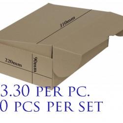 Postal Box Size B-01 - 10pcs per set (Pre-Order; No Exchange/ Return)