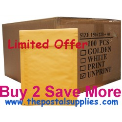 S5 Size Kraft Bubble Mailer (Wholesale)