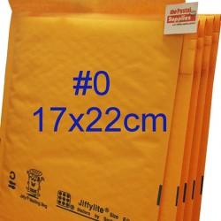 Jiffylite Kraft Bubble Mailer #0 [Limited Stock]