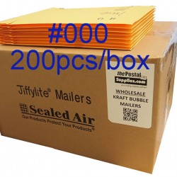 Jiffylite Kraft Bubble Mailer #000 (Wholesale)