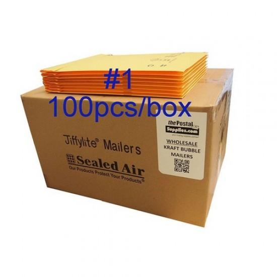 Jiffylite Kraft Bubble Mailer #1 (Wholesale)