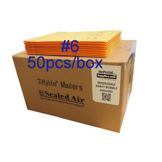Jiffylite Kraft Bubble Mailer #6 (Wholesale)