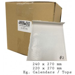 White Kraft Bubble Mailer Bags #2 (Wholesale)