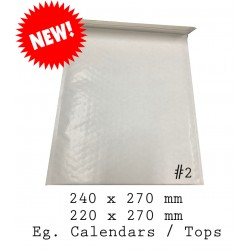 White Kraft Bubble Mailer Bag #2 (10pcs)