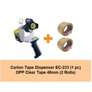 [Bundle] Carton Tape Dispenser EC-233 | 2rolls of 48mm OPP Tape