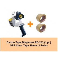 [Bundle] Carton Tape Dispenser EC-233 | 2rolls of 48mm OPP Tape