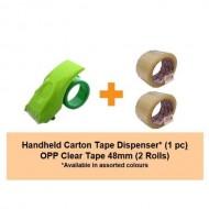 [Bundle] Carton Tape Dispenser | 2rolls of 48mm OPP Tape