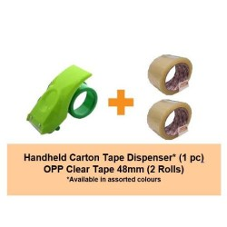 [Bundle] Carton Tape Dispenser | 2rolls of 48mm OPP Tape
