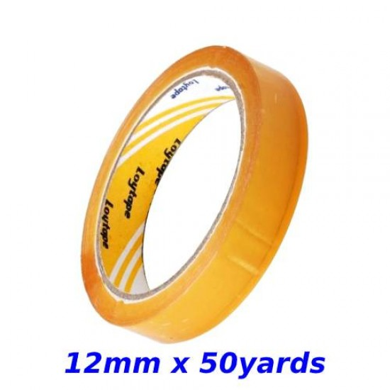 Loytape Cellulose Tape 12mm x 50yards