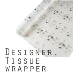20pcs Acid-Free Printed Tissue Papers - Stars