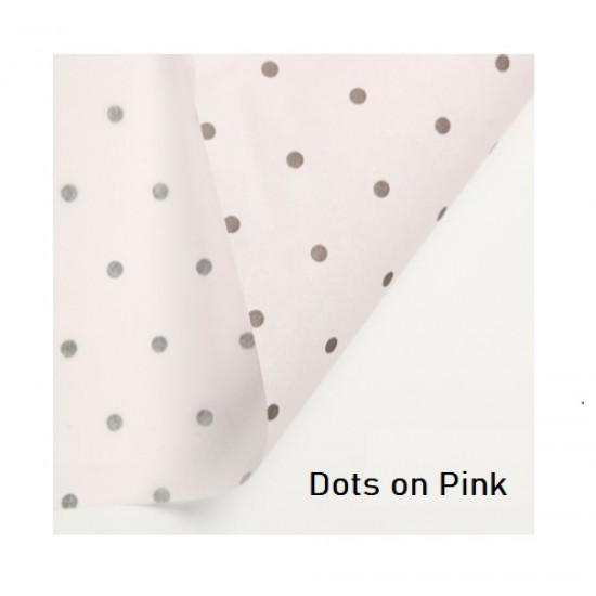 20pcs Acid Free Designer Tissue Papers - Dots