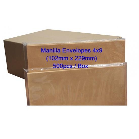 Manilla Envelope 4x9 (Box)