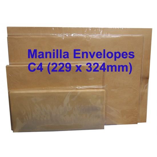 Manilla Envelope C4 9X12-3/4 (Pack of 10)