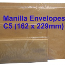 Manilla Envelope C5 6-3/8 x 9 (Pack of 20)