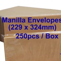 Envelope C4 9X12-3/4 Manilla (box)