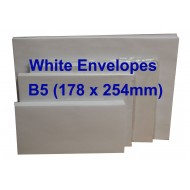 White Envelope B5 7 x 10 (Pack of 10)
