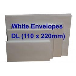 White Envelope DL 110 x 220mm (Pack of 20)