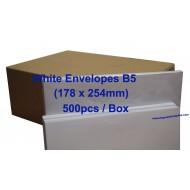White Envelope B5 7 x 10 (Box)