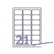 Avery L7160 Address Label 63.5x38.1 (2100s) Wht