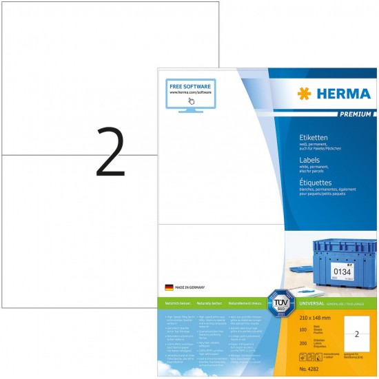 Herma 4282 Superprint 99.1X38.1 (200s) Wht