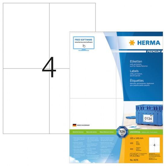 Herma 4676 Superprint 105x148 (400s) Wht