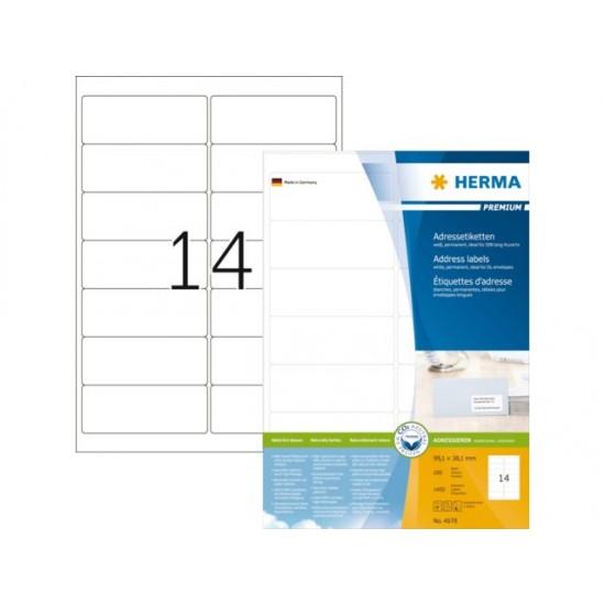 Herma 4678 Superprint 99.1x38.1 (1400s) Wht