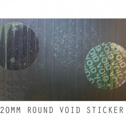 Tamper-Evident Void Security Round Stickers Dia.20mm