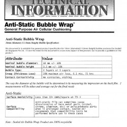 Anti-Static Bubble Wrap ® Roll 20inch(H) x 5metres(L) Pink