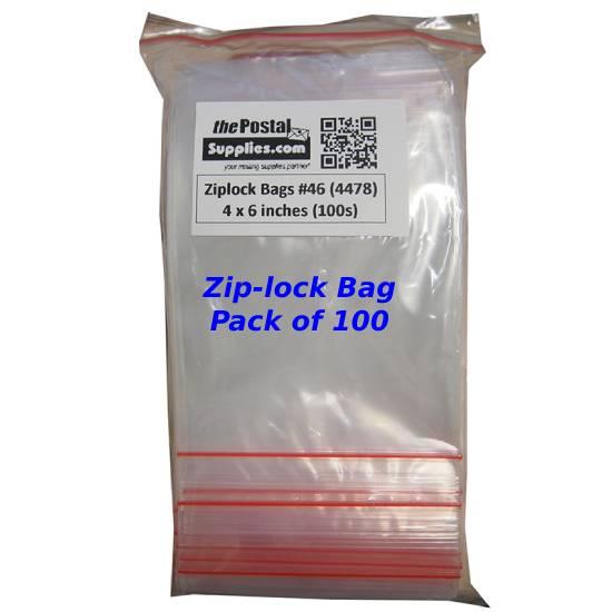 Ziplock Clear Bag #XS 4x6 (Pack of 100)
