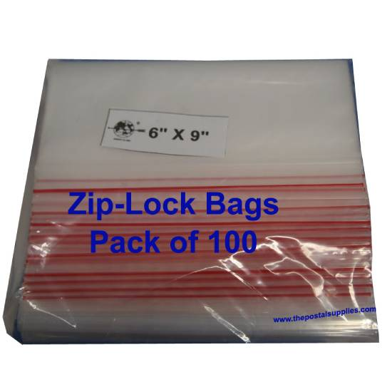 Ziplock Clear Bag #S 6x9 (Pack of 100)
