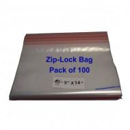 Ziplock Clear Bag #XL 9x14 (Pack of 100)