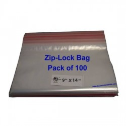 Ziplock Clear Bag #XL 9x14 (Pack of 100)